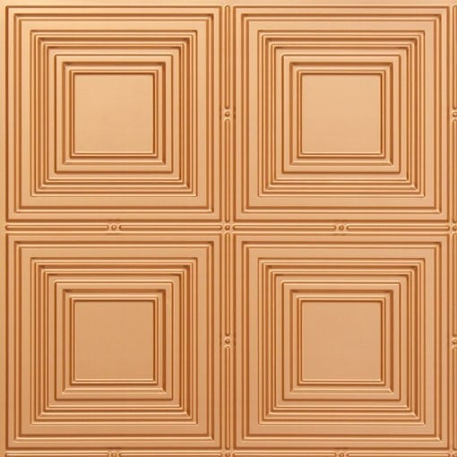 257 Faux Tin Ceiling Tile - Gold
