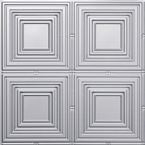 257 Faux Tin Ceiling Tile - Silver