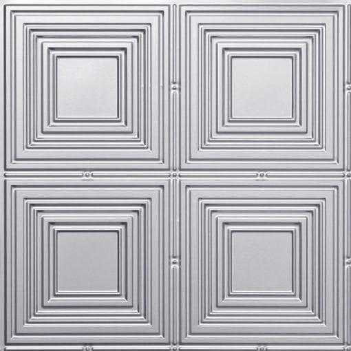 257 Faux Tin Ceiling Tile - Silver