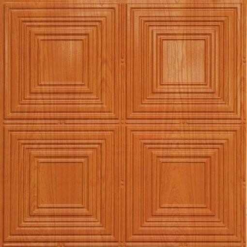 257 Faux Tin Ceiling Tile - Teakwood