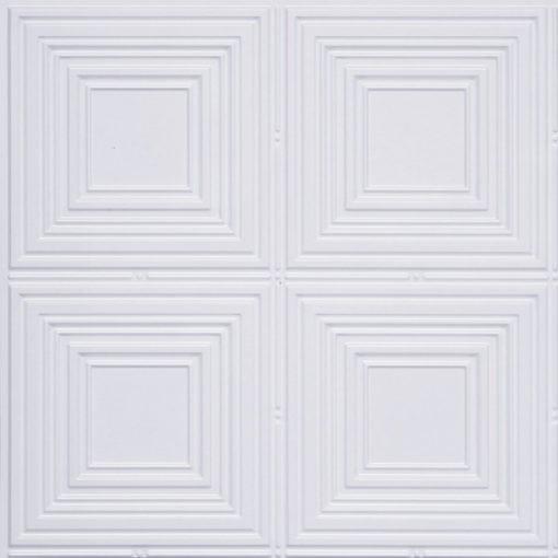 257 Faux Tin Ceiling Tile - White Pearl