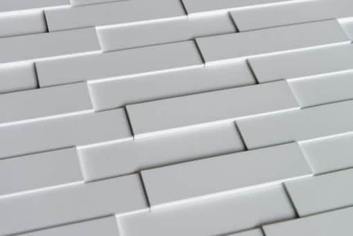 3D Thermoplastic wall panel - Piano Step - White Matte