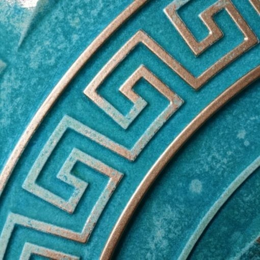 TD01 Faux Tin Ceiling Tile - Talissa Signature Collection - Turquoise Gold