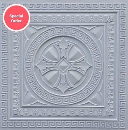 TD01 Faux Tin Ceiling Tile - Talissa Signature Collection - White Matte