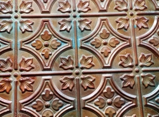 BP10 Faux Tin PVC Panel - Anodized Copper