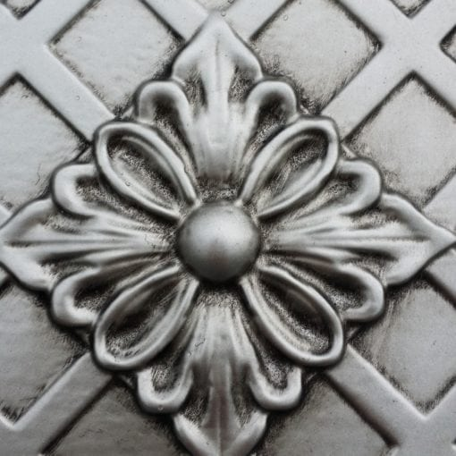 TD04 Faux Tin Ceiling Tile- Aged Silver