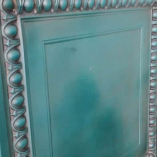 TD06 Faux Tin Ceiling Tile - Aged Turquoise