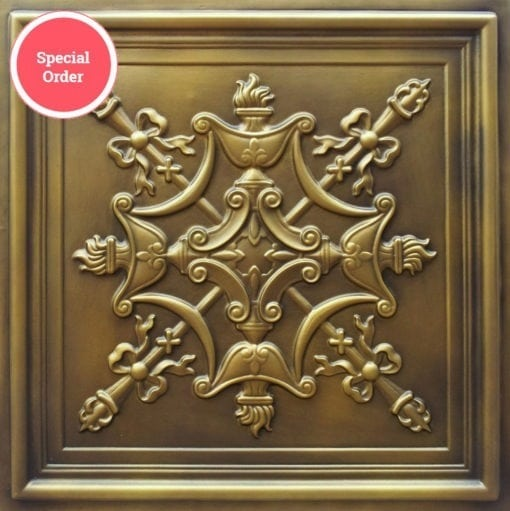 TD07 Faux Tin Ceiling Tile - Aged Brass
