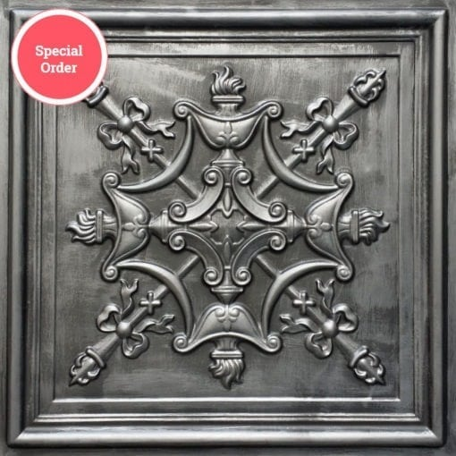 TD07 Faux Tin Ceiling Tile - Aged Silver