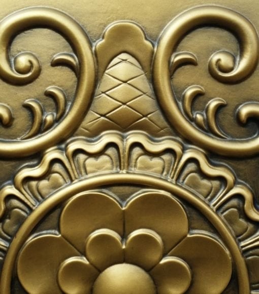 TD09 Faux Tin Ceiling tile - Aged Brass