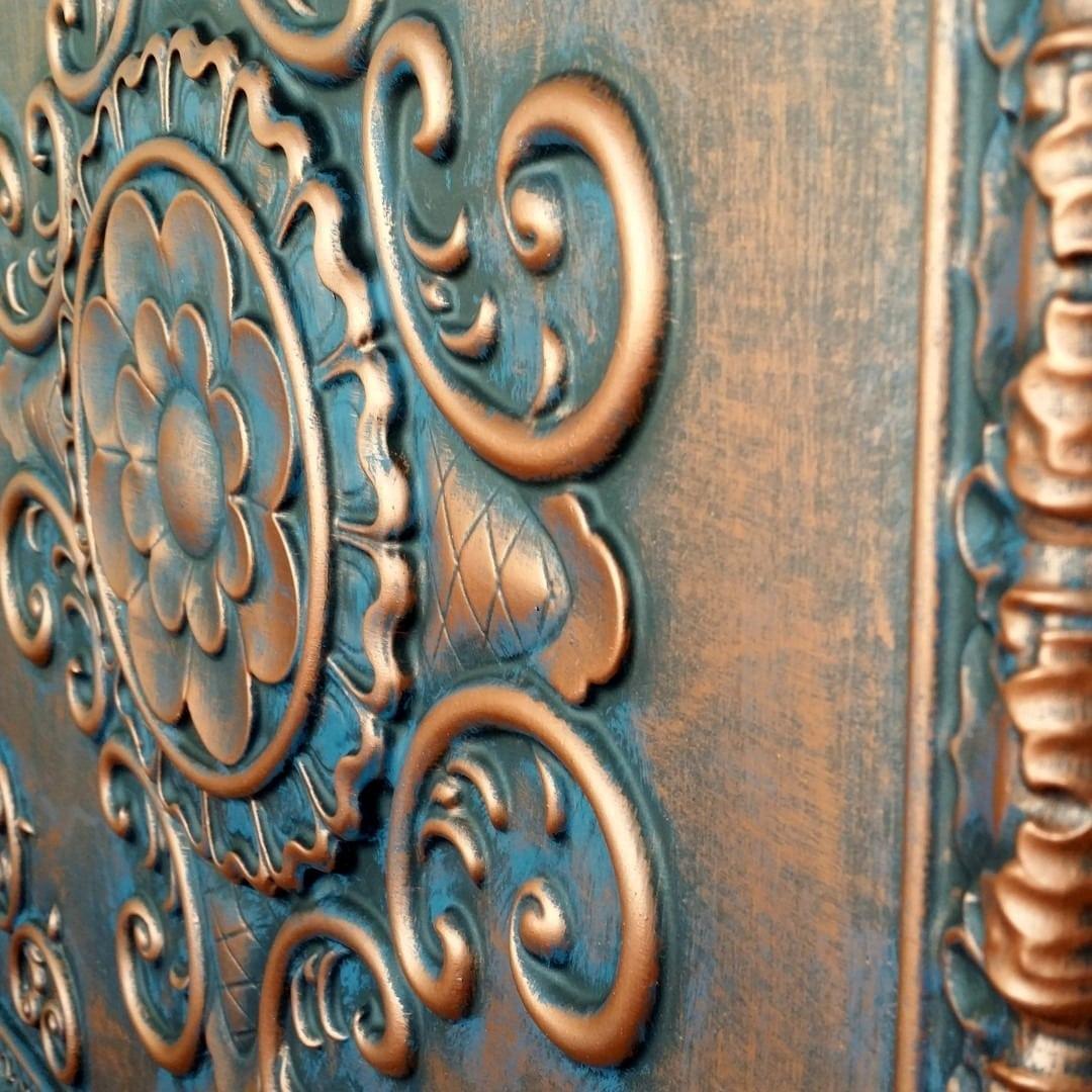 Td09 Faux Tin Ceiling Tile Rustic Copper