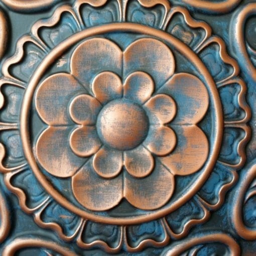 TD09 Faux Tin Ceiling tile - Rustic Copper