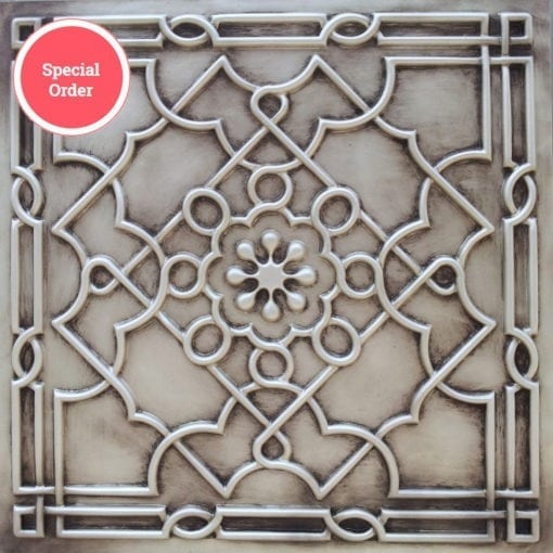 TD09 Faux Tin Ceiling Tile - Antique White