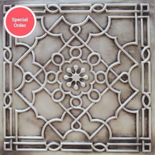 TD09 Faux Tin Ceiling Tile - Antique White