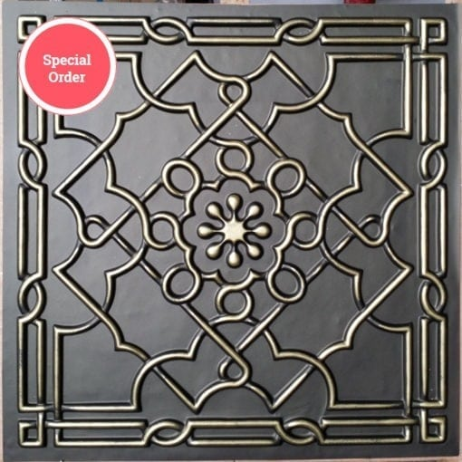 TD09 Faux Tin Ceiling Tile - Classic Aged Bronze