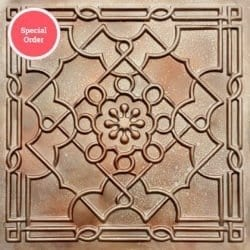 TD09 Faux Tin Ceiling Tile - Spackled Copper
