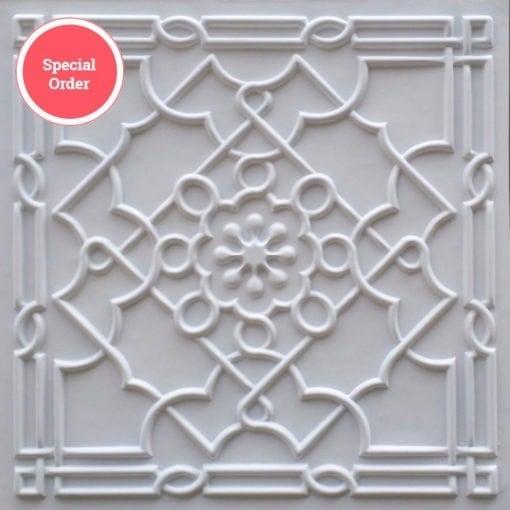 TD09 Faux Tin Ceiling Tile - White Matte