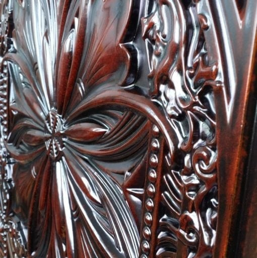 TD10 Faux Tin Ceiling Tile - Aged Rosewood