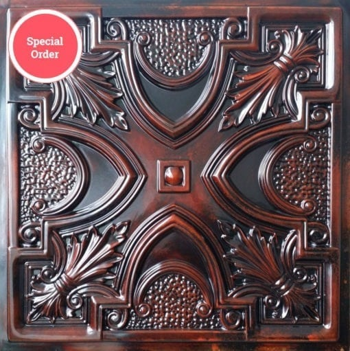 TD11 Faux Tin Ceiling Tile - Aged Rosewood