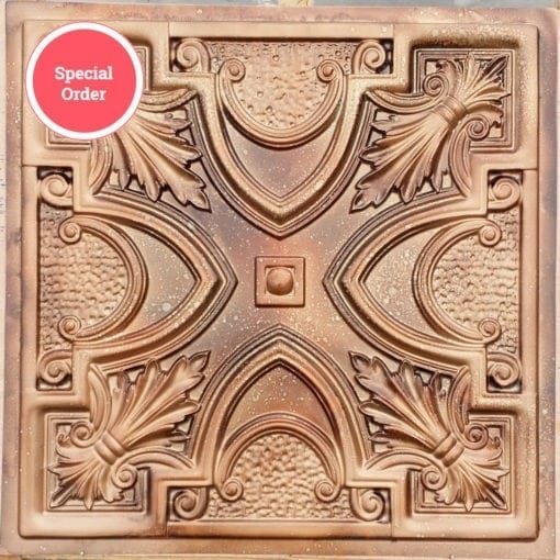 TD11 Faux Tin Ceiling Tile - Spackled Copper
