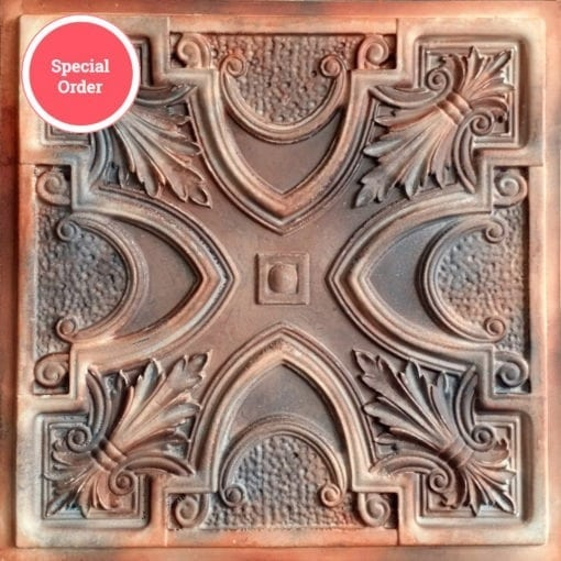 TD11 Faux Tin Ceiling Tile - Washed Brown