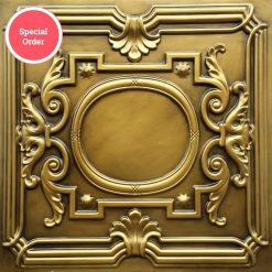TD15 Faux Tin Ceiling Tile - Aged Brass