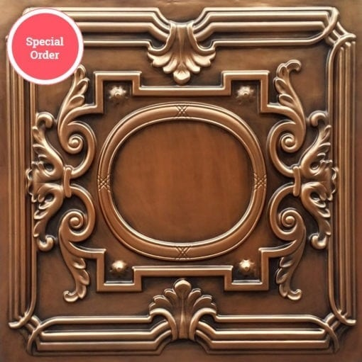 TD15 Faux Tin Ceiling Tile - Aged Copper