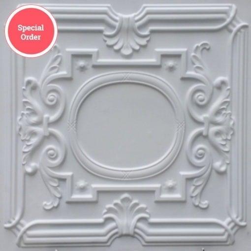 TD15 Faux Tin Ceiling Tile - White Matte