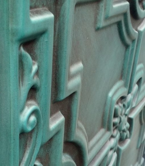 TD16 Faux Tin Ceiling Tile - Aged Turquoise