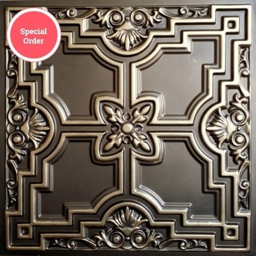 TD16 Faux Tin Ceiling Tile - Classic Aged Bronze