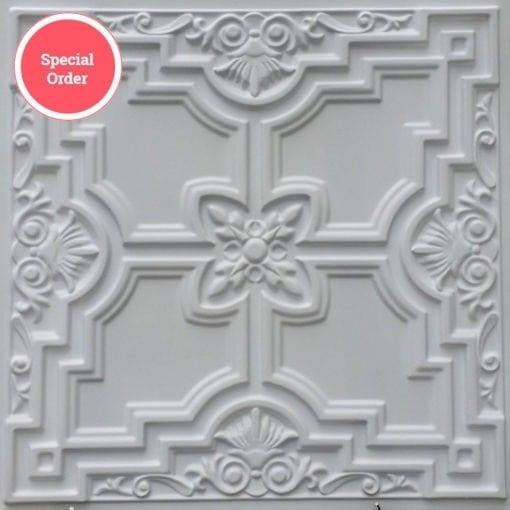 TD16 Faux Tin Ceiling Tile - White Matte