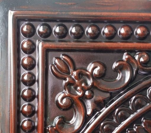 TD17 Faux Tin Ceiling Tile - Aged Rosewood