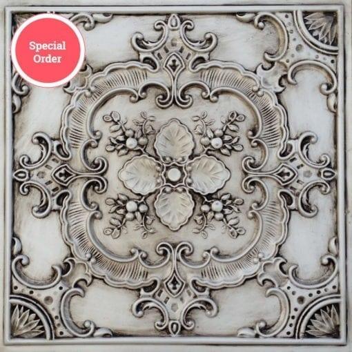 TD19 Faux Tin Ceiling Tile - Antique White