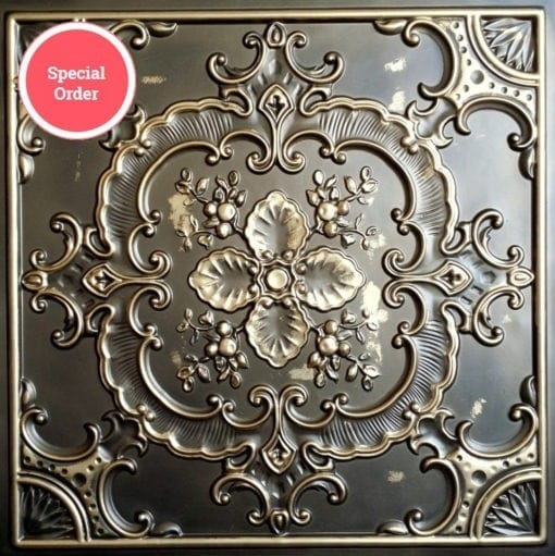 TD19 Faux Tin Ceiling Tile - Classic Aged Bronze