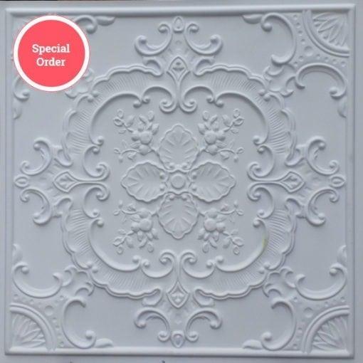 TD19 Faux Tin Ceiling Tile - White Matte