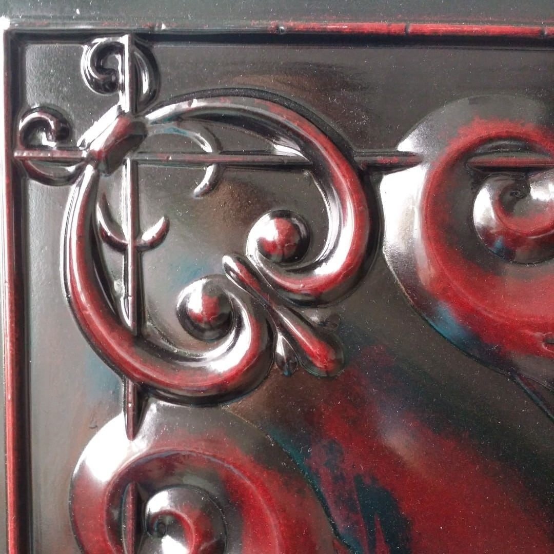 Td22 Faux Tin Ceiling Tile Aged Rosewood
