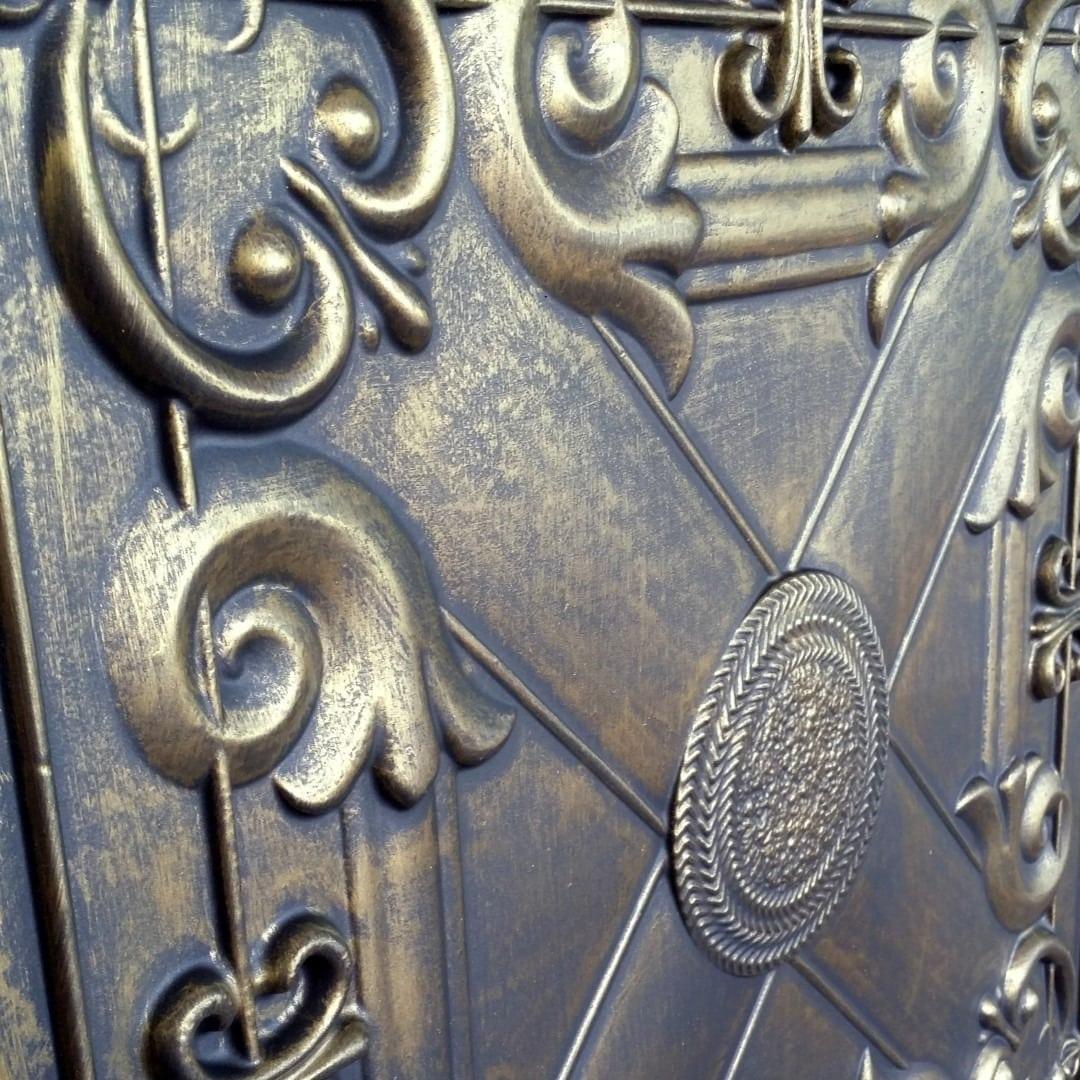 Td22 Faux Tin Ceiling Tile Ancient Gold