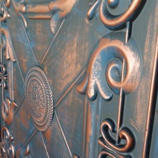 TD22 Faux Tin Ceiling Tile - Rustic Copper