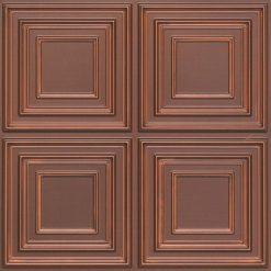 259 Faux Tin Ceiling Tile - Antique Copper