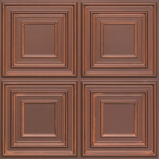 259 Faux Tin Ceiling Tile - Antique Copper