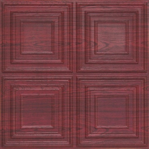 259 Faux Tin Ceiling Tile - Rosewood