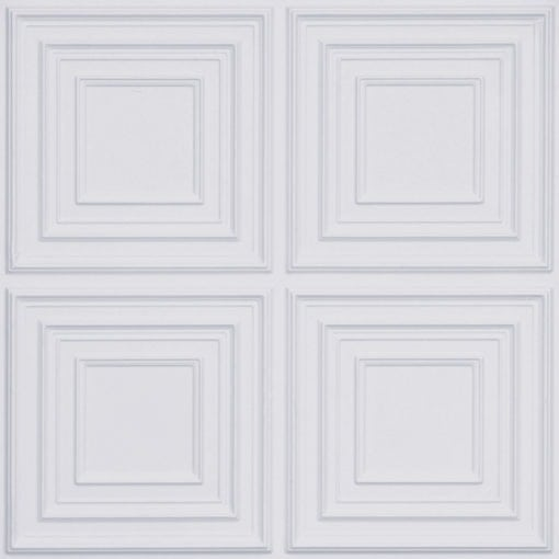 259 Faux Tin Ceiling Tile - White Matte