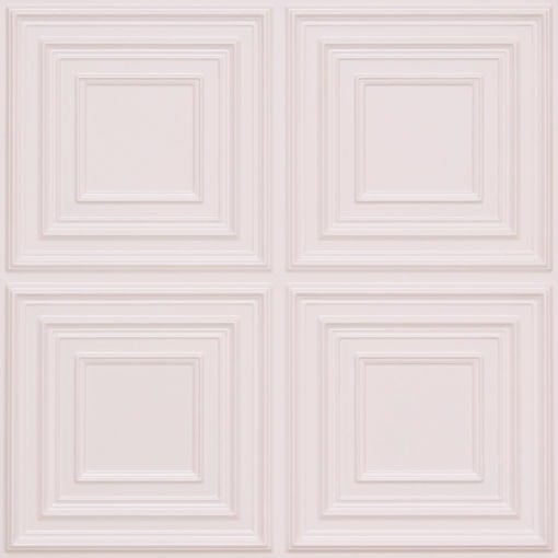 259 Faux Tin Ceiling Tile - White Pearl