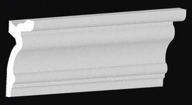"354CC Polystyrene Crown Molding 3.9"" wide"