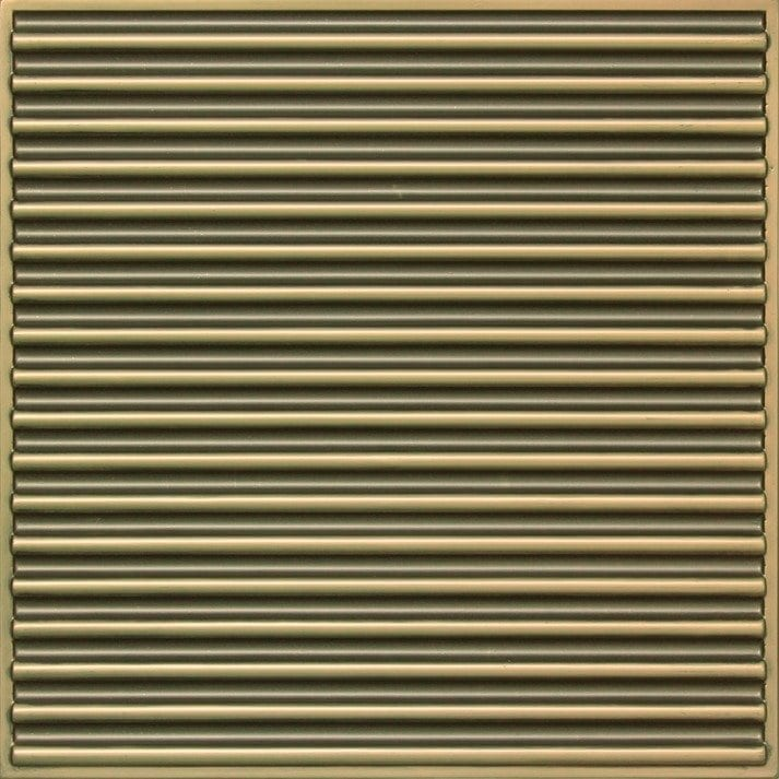 261 Faux Tin Ceiling Tile - Antique Brass