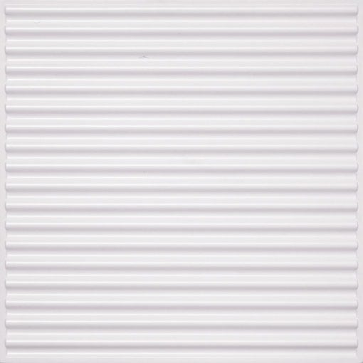 261 Faux Tin Ceiling Tile - White Pearl