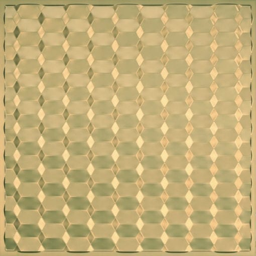 264 Faux Tin Ceiling Tile - Brass