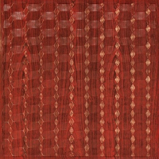 264 Faux Tin Ceiling Tile - Rosewood