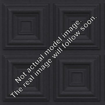 264 Faux Tin Ceiling Tile - Black Matte