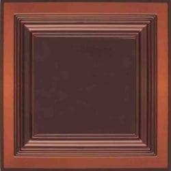 274  Faux Tin Ceiling Tile - Coffered - Antique Copper